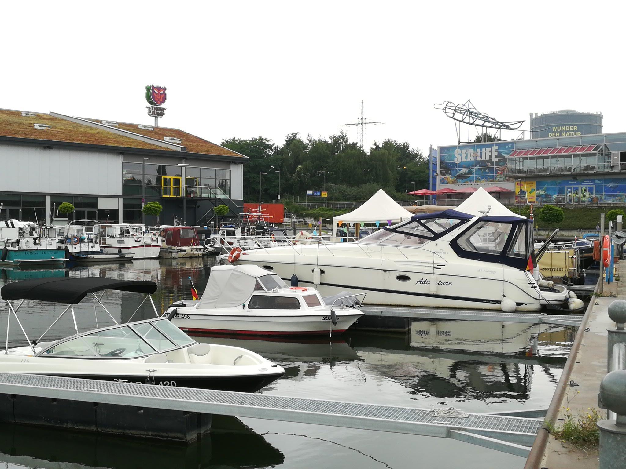 In der Marina Oberhausen